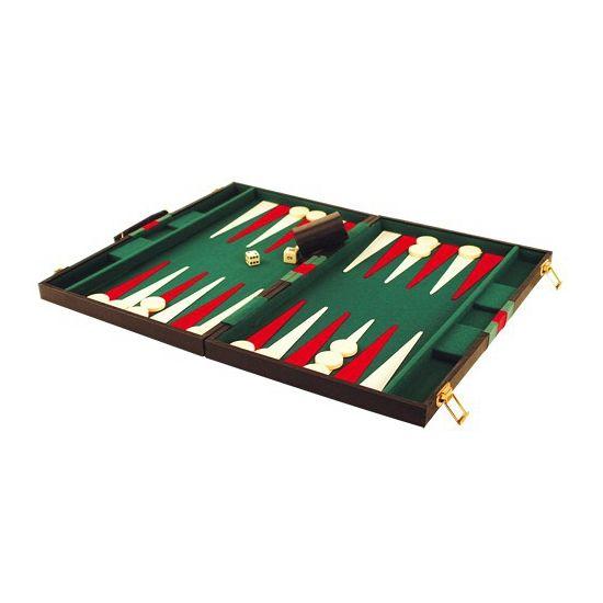 Backgammon spel. Luxe backgammon spel in een opbergbox. Inhoud: 4 dobbelstenen, 1 verdubbelsteen, 30 speelstukken, 2 dobbelstenen kopjes en een instructieboekje.
