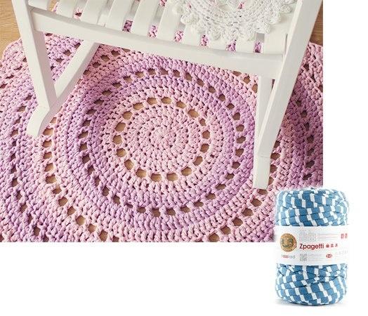 Lion Brand t-shirt yarn rug