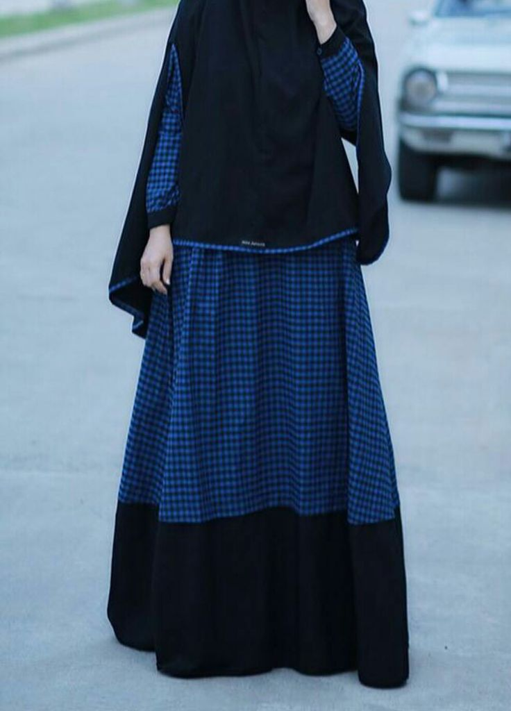 Elegant blue hijab#