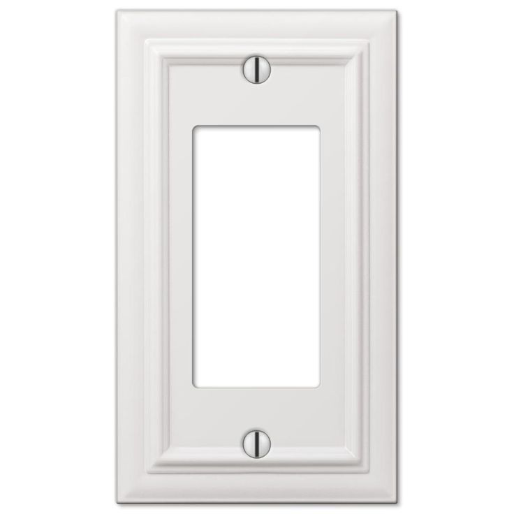 Amerelle White 3 Gang Decorator Rocker Wall Plate 1 Pack 94rrw Plates On Wall Steel Wall Decor
