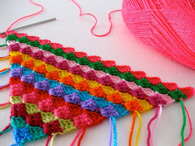 slant stitch from a corner