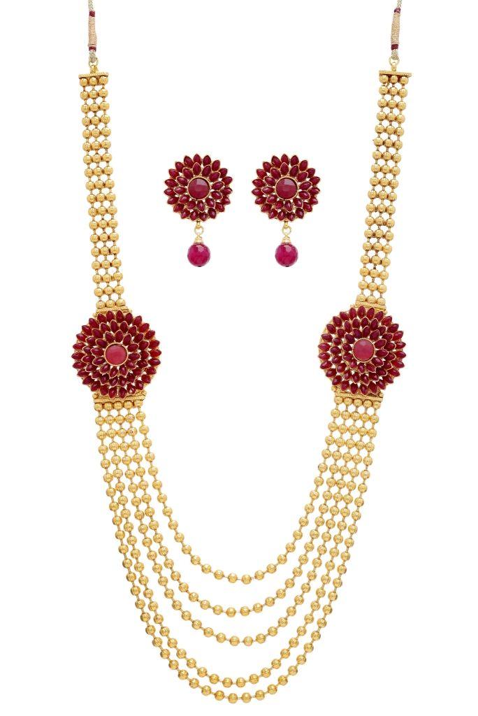 Antique golden necklace set