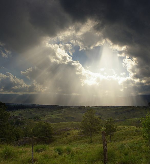 Sun Rays in Argentina - Awesome !