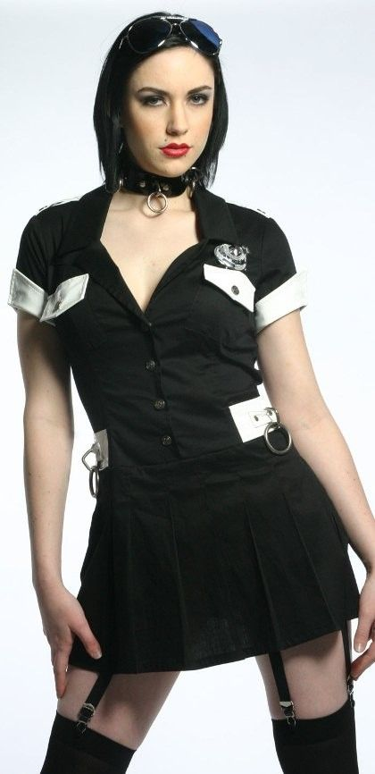 Miranda's Right Cop Mini Dress/ The importance of the MIranda Rights if you do not obey the laws the police has the right to arrest you.