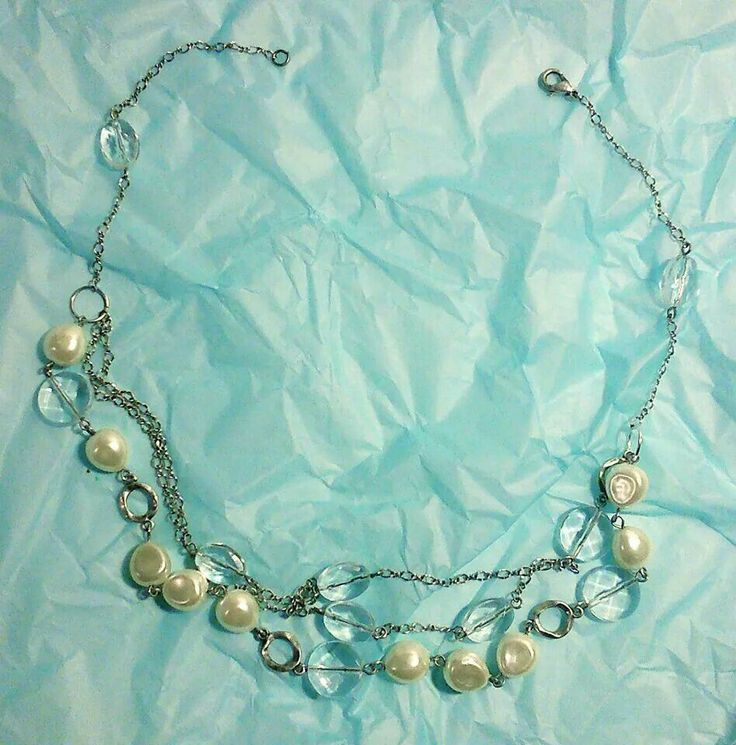 Upcycled, re-jigged necklace by Demelza Grace Design.