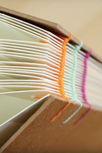 Thread Book Binding Tutorial by @sealemon   Paper Crafts