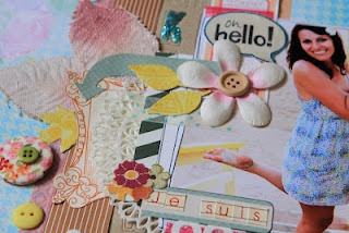 Summer themed scrapbook page by Sizzix UK designer Karine Cazenave-Tapie.