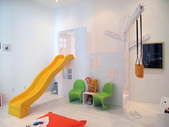 Indoor park.  I need this, but with Monkey bars too to get my boys through the long winters.