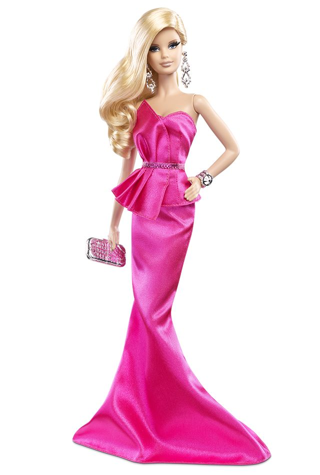 This is one fab fashion doll who knows a pink-tastic look never goes out of style! The Barbie Look™ 2014 Collection - Pink Gown