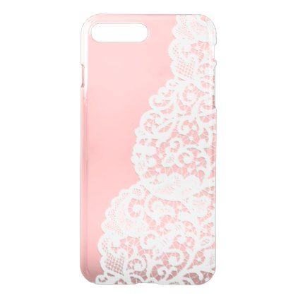 Romantic Antique White Lace iPhone 8 Plus/7 Plus Case - diy cyo personalize design idea new special custom