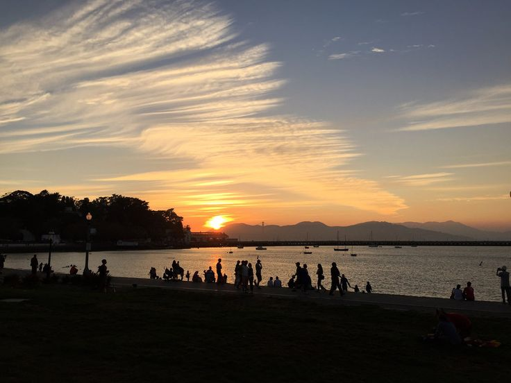 All sizes | Sunset, Aquatic Park | Flickr - Photo Sharing!