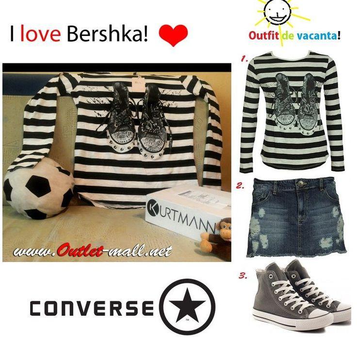 converse factory outlet j8b8  Outfit sexy de #vacanta: tricou in dungi, blugi scurti si tenisi Converse