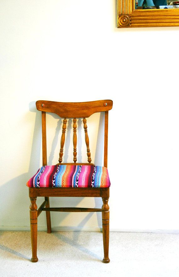 Cheer Up Your Home With This Colorful Piece Of Furniture This Vintage 1964 Sturdy Wood Chair Has Been Sanded Mid Century Dining Chairs Chair Feature Chair