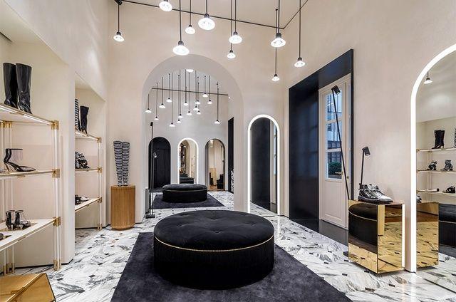 balmain flagship store on rue saint