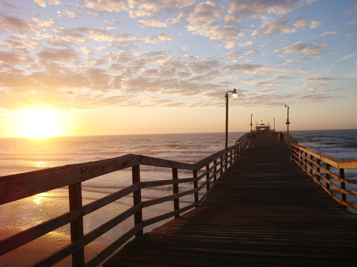 Sunrise at the Cherry Grove Pier is only steps away from the Prince Resort, your perfect North Myrtle Beach hotel!