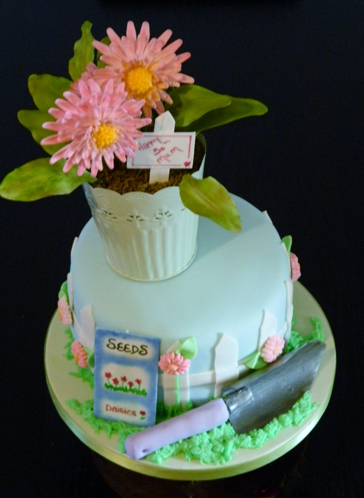 images of cakes with garden theme - photo #5