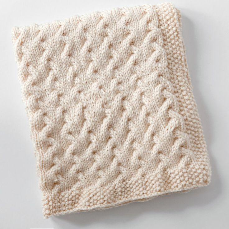 Ondinhas minúsculas - padrão de tricô de manta grátis para bebê