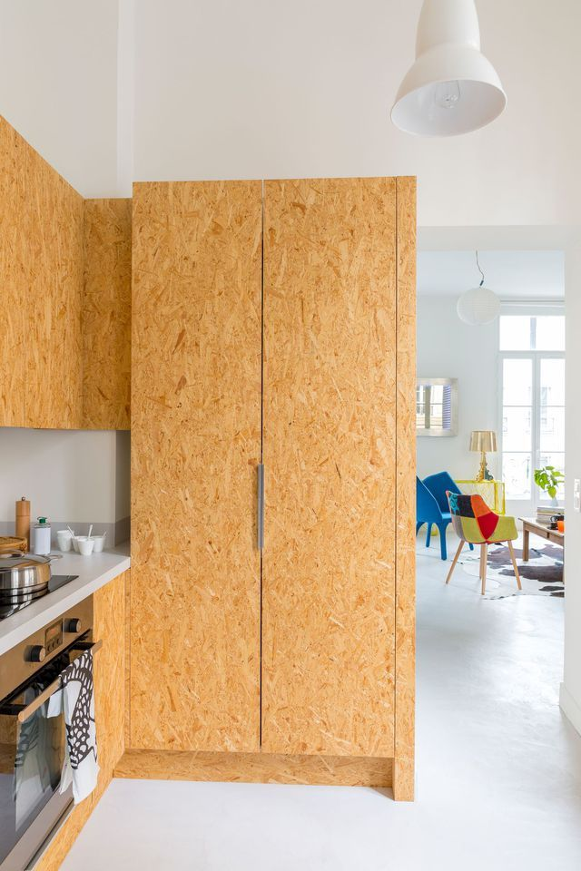 443 best OSB images on Pinterest | Wood, Osb board and Garage interior | {Schrankküche ikea 45}