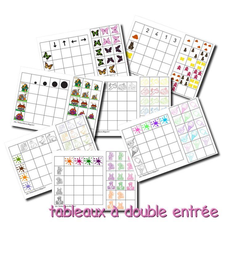 La maternelle de Laurène: Tableaux double entrée