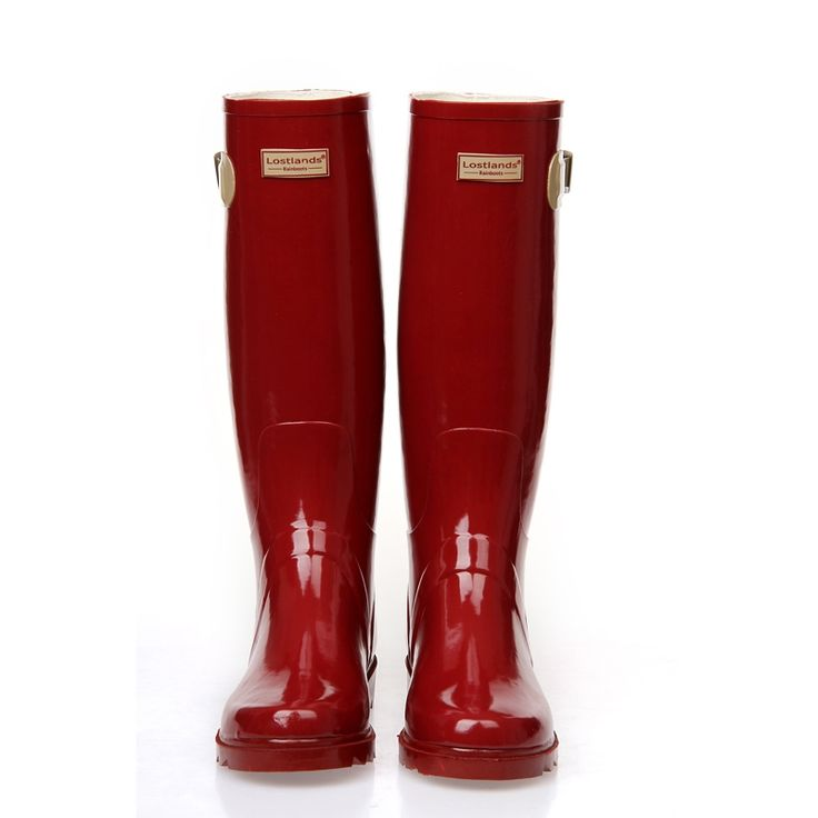 37.40$  Watch now - http://ai2d7.worlditems.win/all/product.php?id=32789869991 - PVC Red Ladies Waterproof Rain Boots Women Rubber Breathable Fashion Knee High Anti-slip Rainboots Water Shoes Female Botas Hot