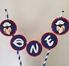 Nautical Mickey Cake Topper Mickey Mouse Cake by PhasesOfLove