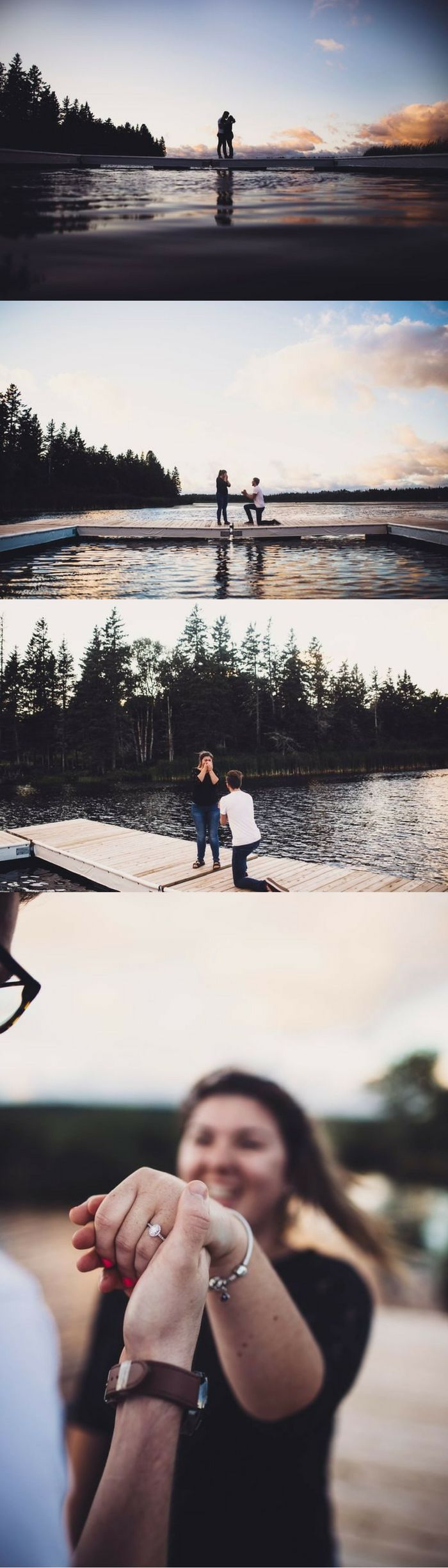 The last thing she expected during their photoshoot was for him to get on one knee, but she couldn't wait to say yes!