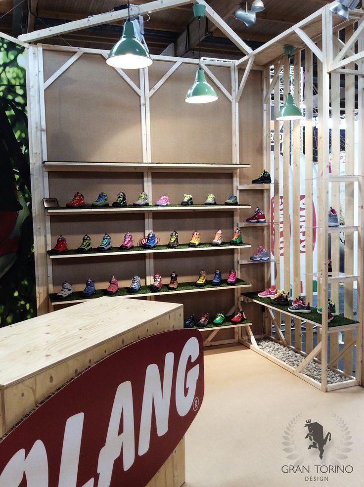 Olang exhibition stand for OutDoor Show. Friedrichshafen, Germany. Gran Torino Design 2015.