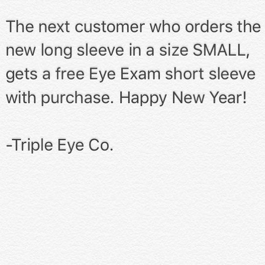 Because we want you going into the new year looking fresh this is on us!  #tripleeyeco #art #thirdeye #fashion #clothing #syracuse #buffalo #nyc #philly #newjersey #newyork #dc #atlanta #florida #texas #california #london #paris #sydney #melbourne #toronto #canada #chile #brazil #italy #manhattan #usa #love