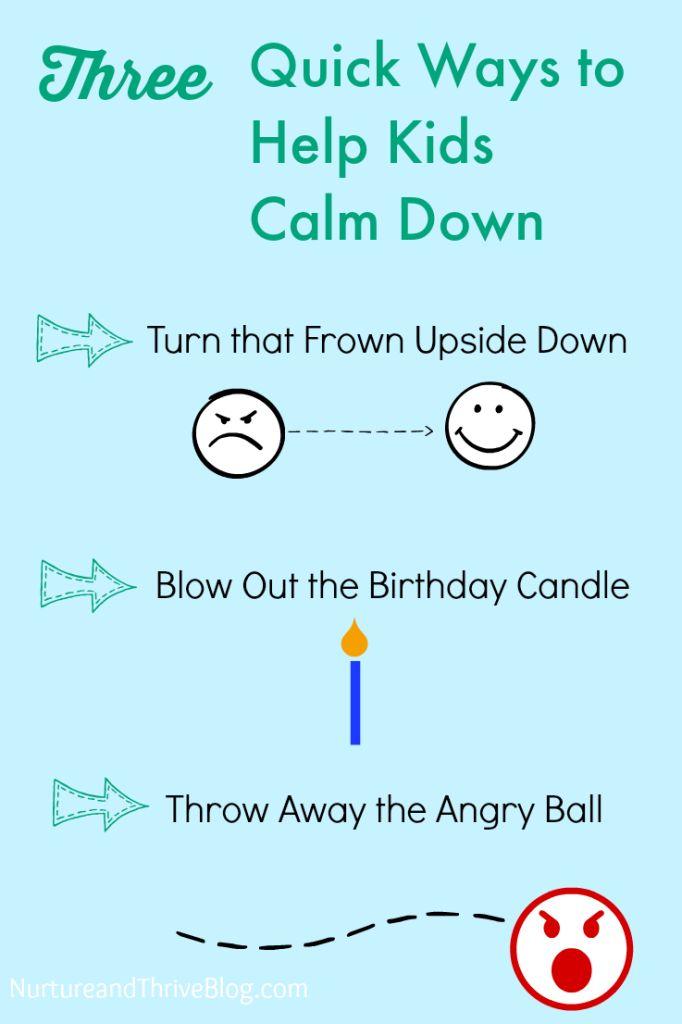 Three tips to help kids calm down from a Child Psychologist - NurtureandThriveBlog.com