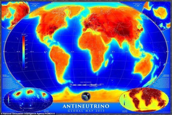 Primer mapa de la radiactividad de la Tierra