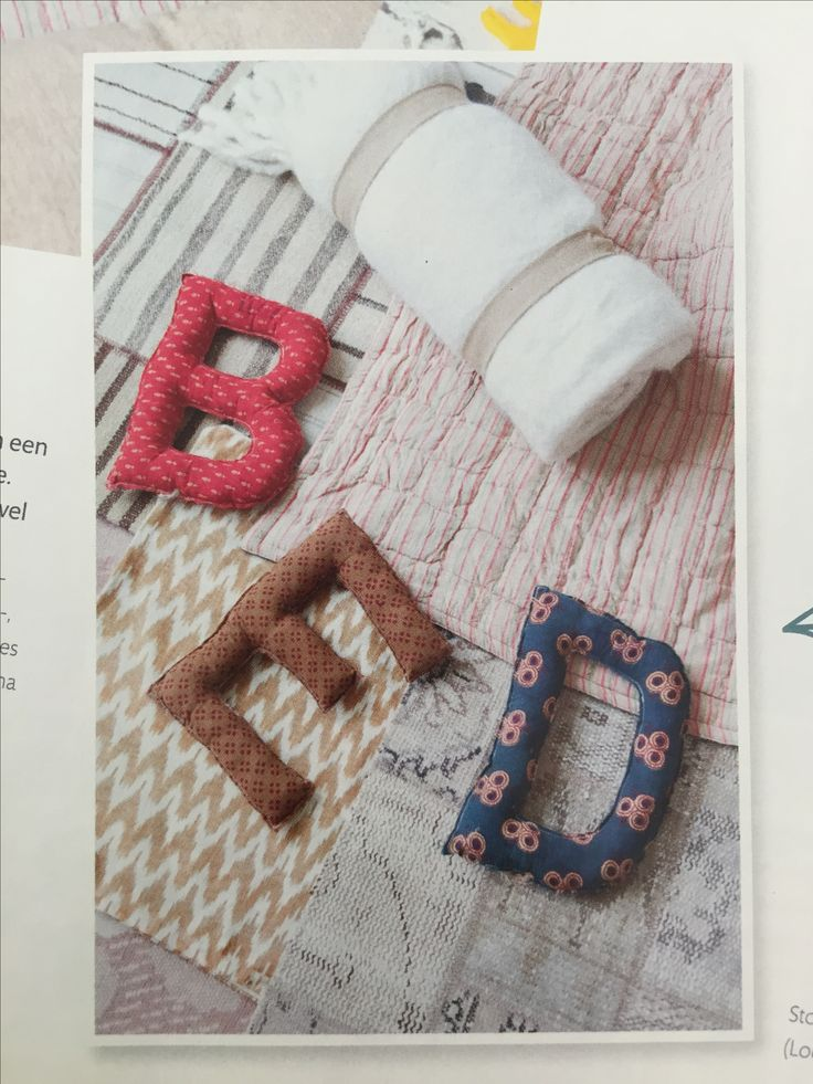 Stoffen letters/Fabric scrap letters as seen in Ariadne at Home
