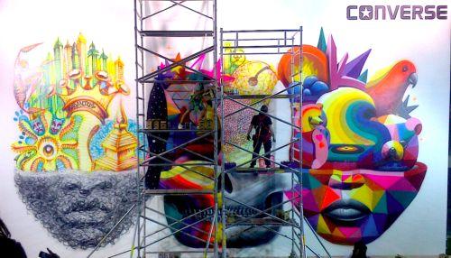 WALL OF CLASH - CONVERSE BY SUSO33 & OKUDA COAM - MADRID