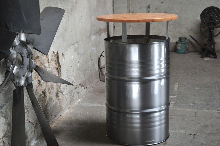 Stehtisch Bartisch Tresentisch aus 200 l Neu Fass Messetisch Ölfass Aufsteller | eBay