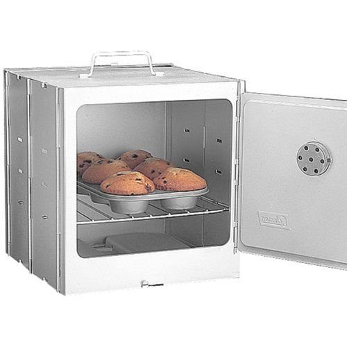 Want to bake but don't have an oven?  As long as you have a stove (even a single-burner camp stove), you can bake pizza, bread, cakes, brownies, casseroles and more with the Omnia oven!