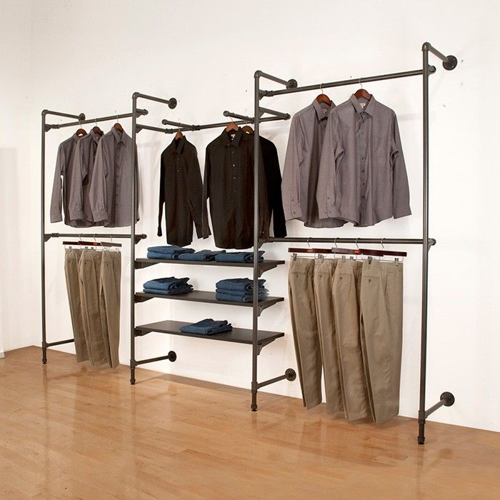 Master Walk-in Closet::Metal Pipe Wall Merchandiser Subastral $417