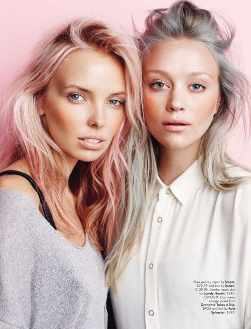 Get The Look! Pretty Pastel Colors for Spring by celebrity stylist Sherri Belanger... http://www.latest-hairstyles.com/color/get-pretty-pastels.html