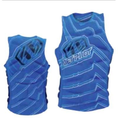 Jet Pilot Men's Techtonic Comp Jacket Wakeboard Impact Vest Blue