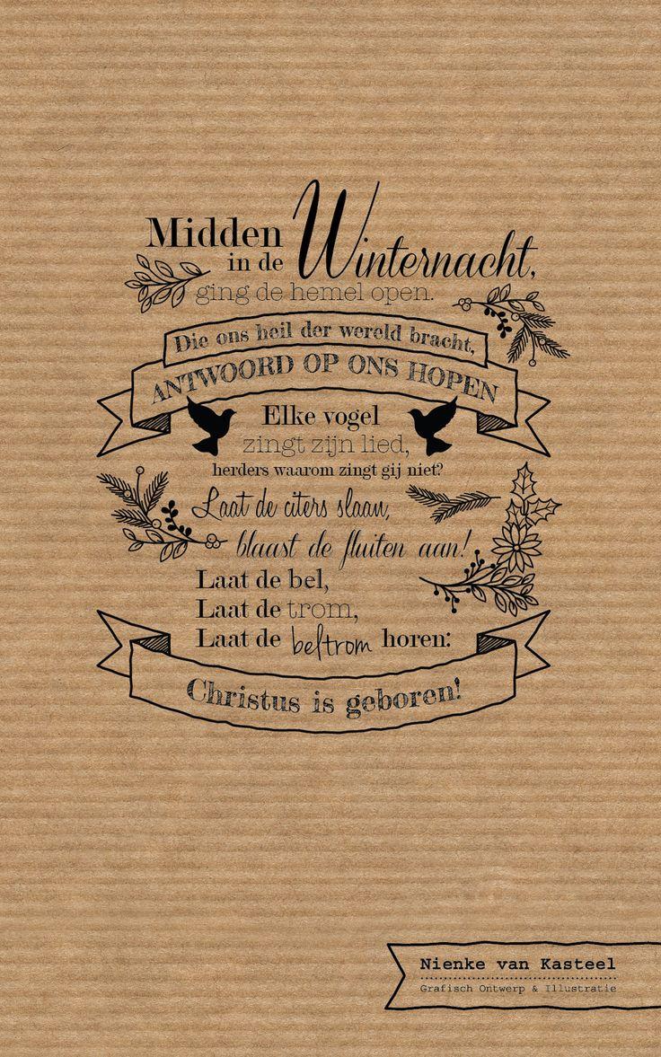 """""""Midden in de winternacht"""" kerstwens - Nienke van Kasteel."""