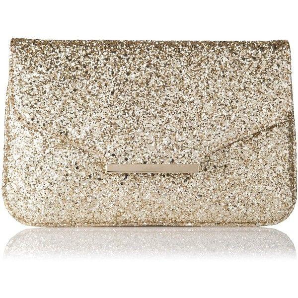 L.K. Bennett Dahlia Glitter Clutch Bag found on Polyvore