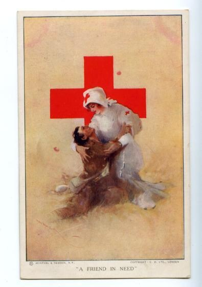 ☤ MD ☞☆☆☆ RED CROSS Friend in need by Hal HURST Vintage.