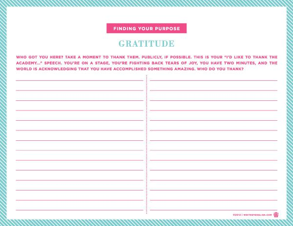 Gratitude Worksheet Have One At Teach Table Or Hand One