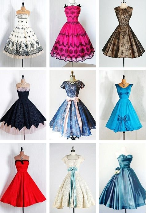 1950's Vintage Cocktail Dresses. I would live to see these dresses on my better half