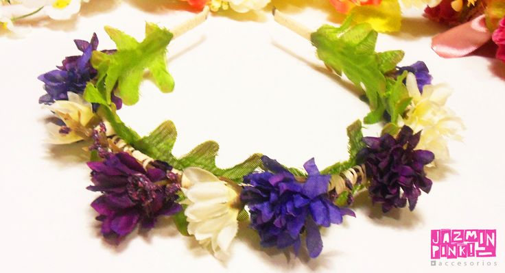 #flowercrown #flowers #headband #vincha #corona #crown #fashion #primavera #spring #woman #hair #crown #flower #accessories #roses #violet