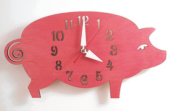 I'm slightly in love with this strange pink pig clock $46.00 - I have no idea where I'd put him though!