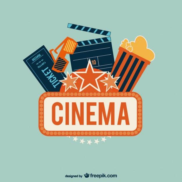 Cinéma illustration de l'art Vecteur gratuit