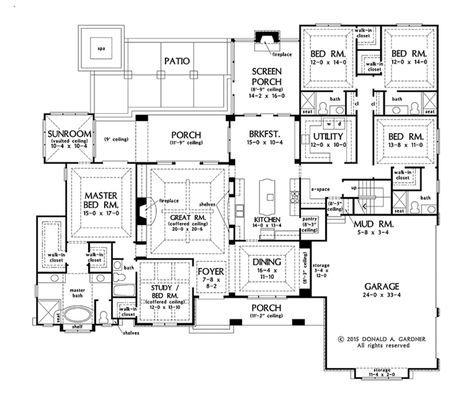 European Floor Plan - Main Floor Plan Plan #929-1008