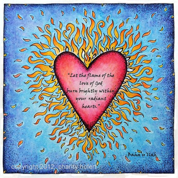 Let the flame of the love of God burn brightly within your