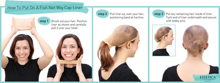 How To Put On A Fish Net Wig Cap Liner