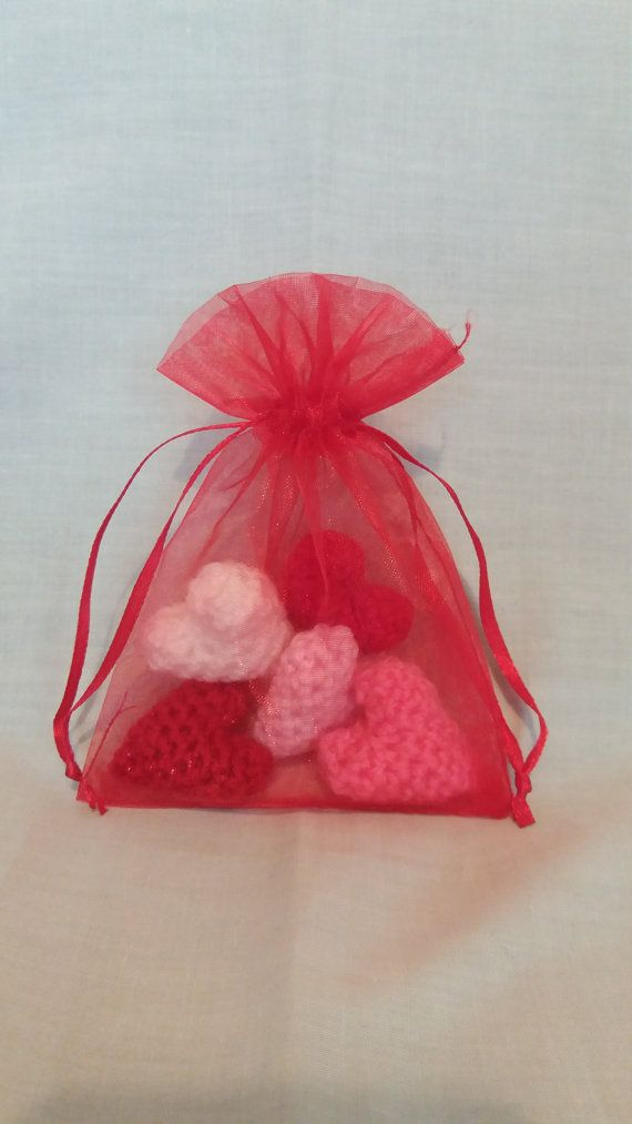 Little Bags of Love  Crochet Hearts  Gifts by CarrotTopsCharacters