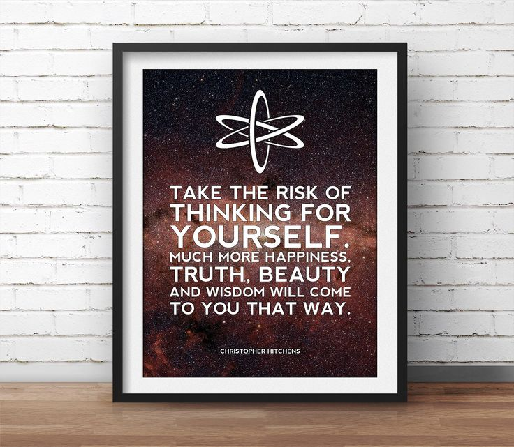 Christopher Hitchens Poster Atheism Quote - Science Art, Geek Posters, Atheist Print, Wall Art, Scientist Poster, 18x24 Poster by ReasonAndScience on Etsy https://www.etsy.com/listing/235530635/christopher-hitchens-poster-atheism